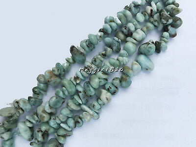 6-8mm Natural 3A Grade Larimar Beads Jewelry Gemstone Chips Freeform Strands 16""