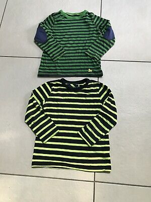 Boys Long Sleeved Striped Tops Mini Boden Age 5-6 And Next Age 4-5