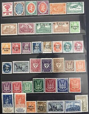 Germany 1919-1923 Charity, Commemoratives & Airmail issues MNH/MLH