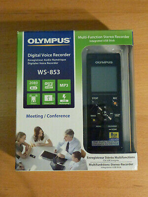 OLYMPUS DIGITAL STEREO VOICE RECORDER MULTI-FUNCTIONAL WS-853 8Gb INTEGRATED USB