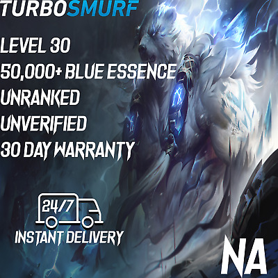 League of Legends Account NA Unranked & Unverified Smurf 40,000 - 50,000 BE