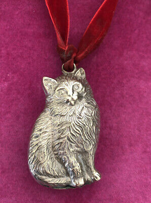 Vintage Silver Plated Cat Childs Rattle