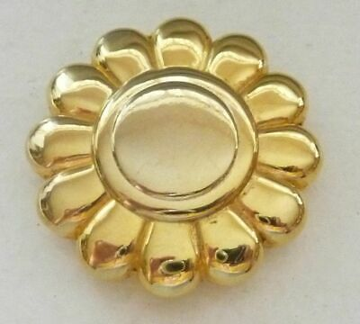 Rare Gold CARTIER Solid Powder Perfume Flower Compact Unused