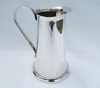 "BEAUTIFUL THE SHEFFIELD SILVER CO SILVER PLATED WATER PITCHER ""DRW"" Monogram EC"