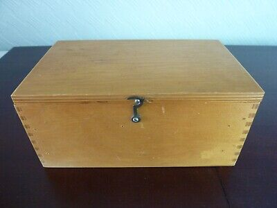 Vintage Wooden Box For Microscope Parts Storage.