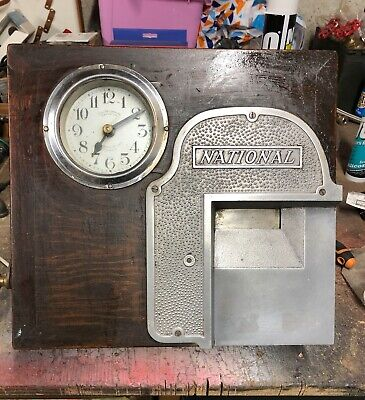 """Vintage Factory Clocking In machine -  1930s """"Autograph Recorder"""""""