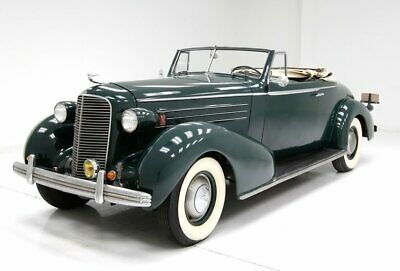 1936 Cadillac Fleetwood Convertible Coupe Ready to Use or Restore L-Head V8 Klamath Green and a Rumble Seat