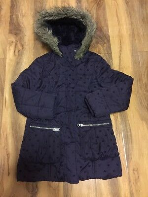 Next Girls Jacket With Fur Lined Hood Aged 8-9 Years Old
