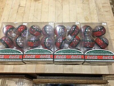 24 Coca Cola Stained Glass Light Covers Christmas Ornaments 1997