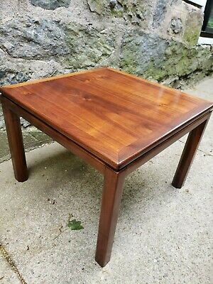 Mid-century Modern Solid Walnut Side Table (Brown Saltman?)
