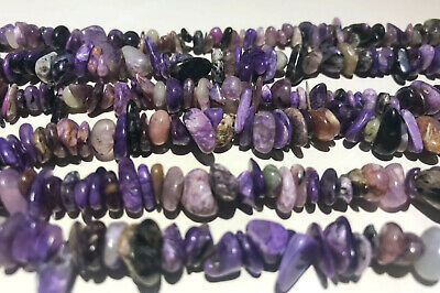 6-8mm Natural Charoite Beads Jewelry Gemstone Chips Freeform Strands 16""