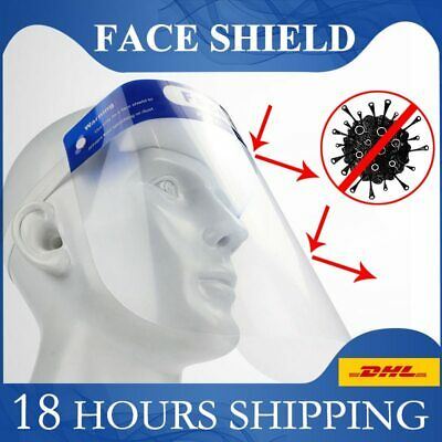 Full Face Shield Safety Protection Screen Soft Anti Virus Clear Face Guard