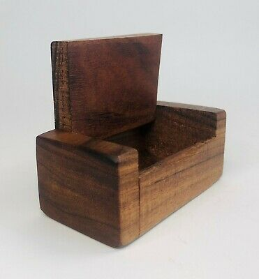 Vtg Paul Gephart Hawaiian Koa Wood Trinket Box