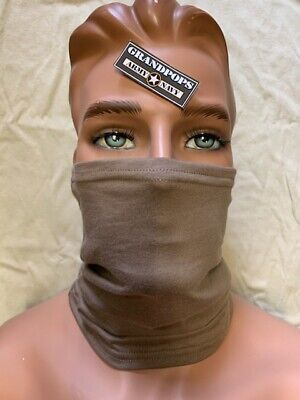 Coyote Brown Neck Gaiter Military Fabric Made In USA