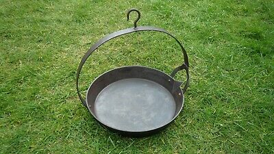 "Rare Vintage Kenrick 11"" Cast Iron Romany Gypsy Swing Skillet Frying Pan,Chitty"