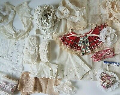 Large Lot Antique VTG&Mod Lace Trim Edging Ruffle Pleat Collar Sewing Craft Doll