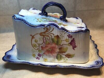 Rare Amazing Vintage Carlton Ware Stoke on Trent Cheese/Butter Dish #344146