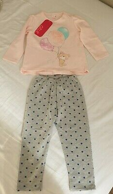 BNWT 2 years girls Long Sleeve Top And Trousers Set