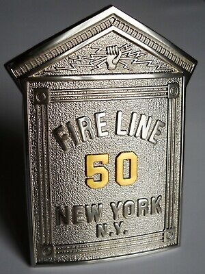 Commemorative  Gamewell Alarm  Box- Style Fire Line Badge Not Issued By The Fdny
