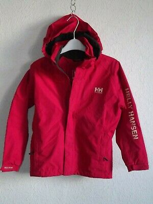 Helly Hansen girls polyester pink parka jacket with hoody size 10 years 140 cm