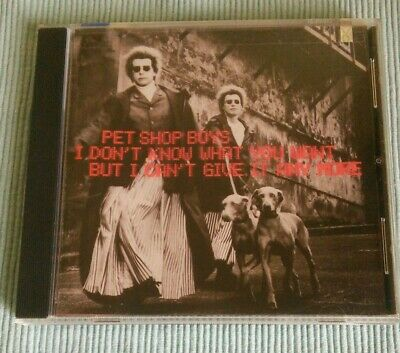 Pet Shop Boys USA Maxi CD I Don't know What You Want But I Can't Give It Anymore
