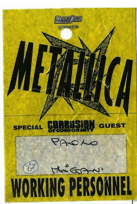METALLICA - Working Personnel - Access Pass