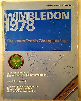 Signed 1978 Wimbledon Tennis Championship Program By Evonne Cawley + 15 Others