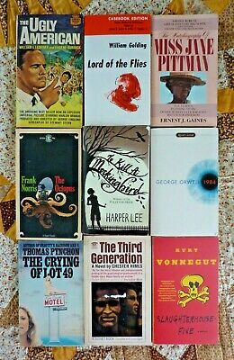 Classic Literature Lot of 9 paperbacks - Pynchon, Himes, Orwell, Lee, Golding, &