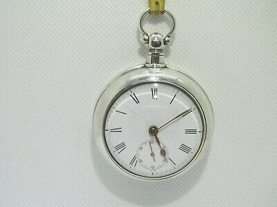 c/1899 pair cased pocket watch solid silver good condition and working ??.