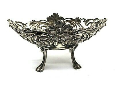 """Unger Bros Antique Art Nouveau Sterling Silver Signed Footed 4.75"""" Dish (TB)"""