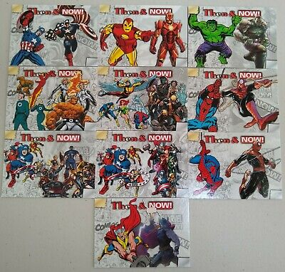 "2014 Marvel NOW! ""Then & Now"" Complete 10 Card Insert Set Free Shipping!"