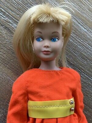 Vintage Skipper Bend Leg AG Blonde & Pants 'n Pinafore Orange Jumper Apron