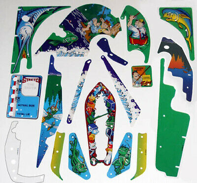 Plastic Set for Williams Fish Tales Pinball Machine 18 pieces  Free Shipping