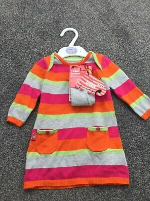 Marks & Spencer baby 3-6 girls dress with tights