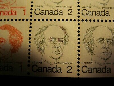 "Canada -""Red Hair And Eyebrows"" Variety On 2 Cent In Book. Pane  Mnh-Vf, Scarce!"