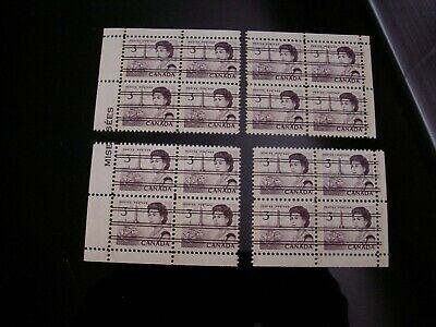 CANADA - #456pxx  3 CENT PRE-CANCELLED PVA GUM TAGGED MATCHED SET MNH-VF