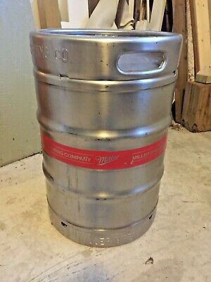 Miller Brewing Company MGD Stainless Steel 1/2 barrel Empty Keg used