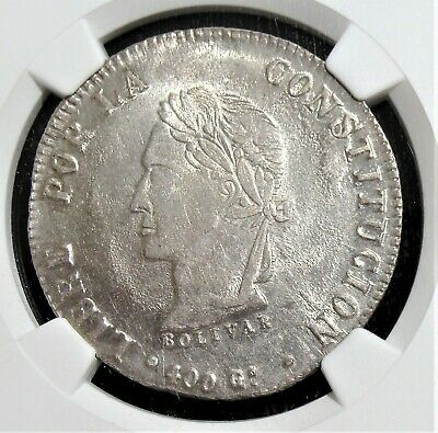 Bolivia: 1863-PTS FP Silver 8 Soles KM-138.6 NGC MS-63+.