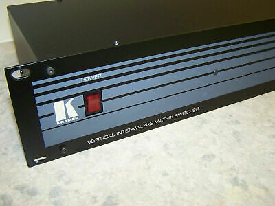 Kramer Electronics Vertical Interval 4x2 Matrix Audio/Video Switcher Vs-402