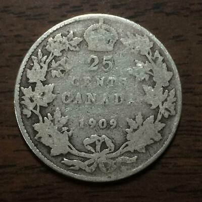 1909 Silver 25 Cents Canada | Edward VII | Better Date