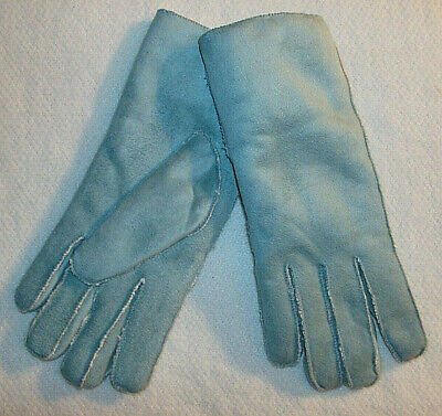 Blue Suede Gloves No Combined Shipping Discounts Fits Most Women's Acrylic New