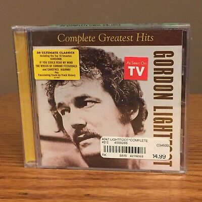 The Complete Greatest Hits by Gordon Lightfoot (CD, Apr-2002, Rhino (Label)) NOS
