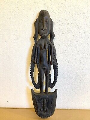SBK suspension hook female ancestor figure with crocodiles Papua New Guinea