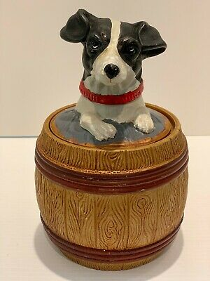 Jack Russell / Parson Terrier Tobacco Jar from Czechoslovakia