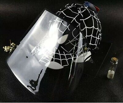 🍒Spiderman Face Shield Full Protection Cap Black Color