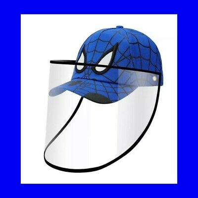 🍒Spider-Man Face Shield Full Protection Cap Blue Color