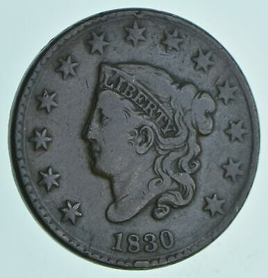 1830 Matron Head Large Cent - Charles Coin Collection *431