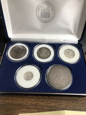 Spanish Reales Type Set Of 5 Coins