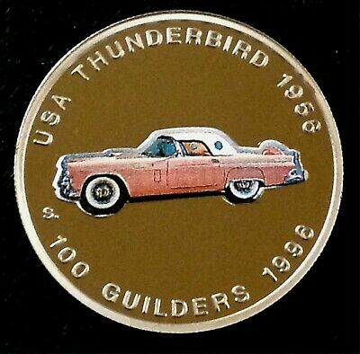 Suriname  100 Guilders 1996 Ford 1956 Thunderbird Commemorative  Uncirculated