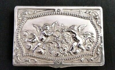 Silver Calling Card Case, Cherubs